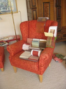 Neuer Bezugsstoff für alten Sessel