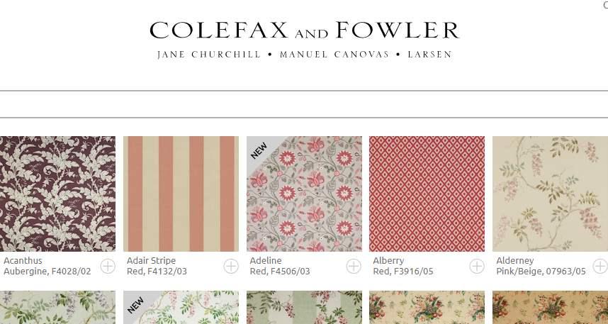 Homepage Dekostoffe von Colefax and Folwer