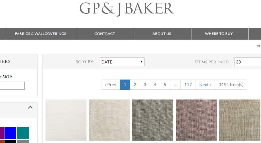 Homepage Dekostoffe von GP&JBaker