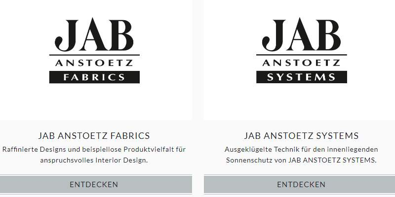 Homepage Dekostoffe von Jab Anstoetz