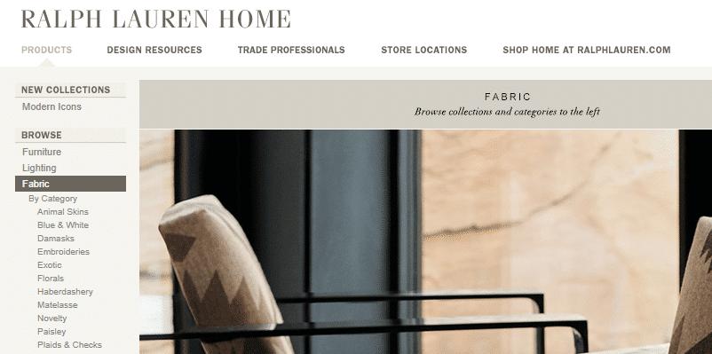 Homepage Dekostoffe von Ralph Lauren