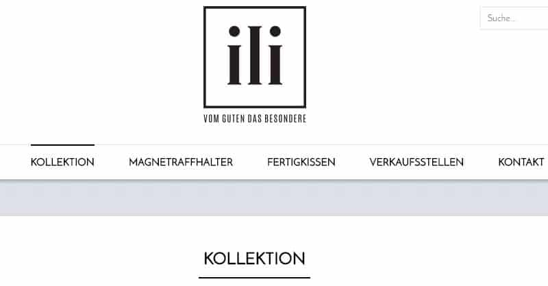 Homepage Dekostoffe kaufen von ILI