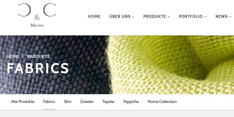 Homepage Dekostoffe von Cu.C Milano