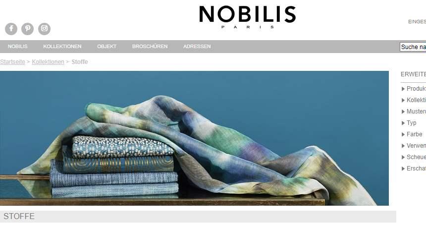 Homepage Dekostoffe von Nobilis