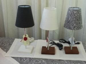 Lampen mit Dekostoff bezogen
