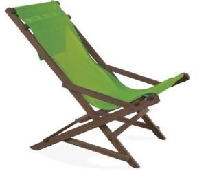 Liegestuhl ohne Dekokissen