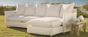 Outdoor Sofa mit Dekokissen von Marie`s Corner