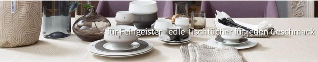 Tee und Tischdecken