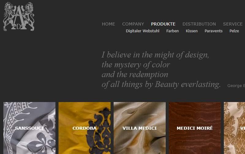 Homepage Dekostoffe von Art u. Dekor
