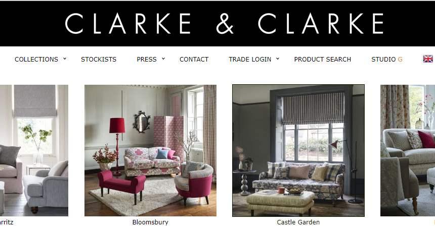 Homepage Dekostoffe von Clarke und Clake