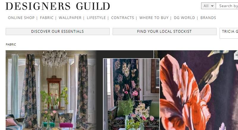 Homepage Dekostoffe von Designers Guild