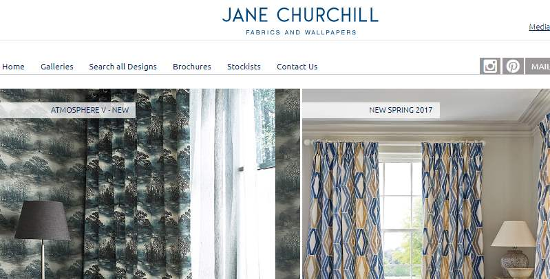 Homepage Dekostoffe von Jane Churchill