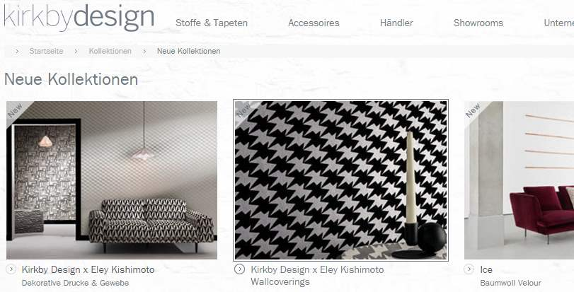 Homepage Dekostoffe von Kirkby Design