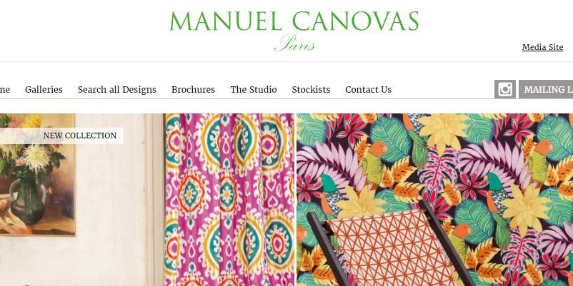 Homepage Dekostoffe von Manuel Canovas