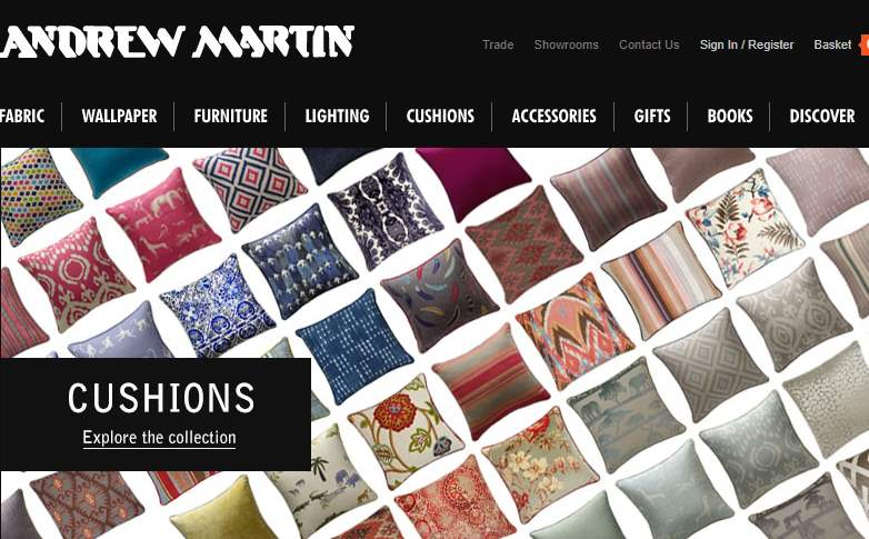 Homepage Dekostoffe von Andrew Martin