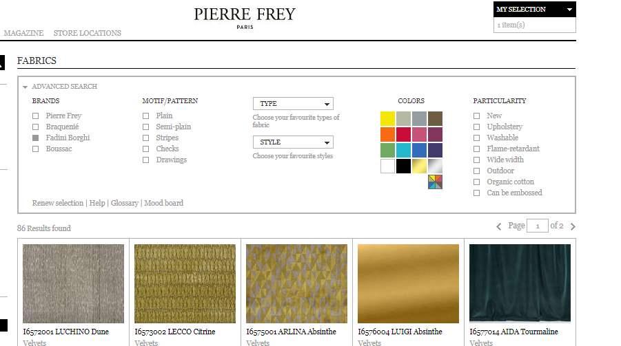 Homepage Dekostoffe von Fadini Borghi