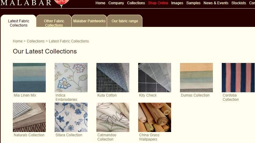 Homepage Dekostoffe von Malabar