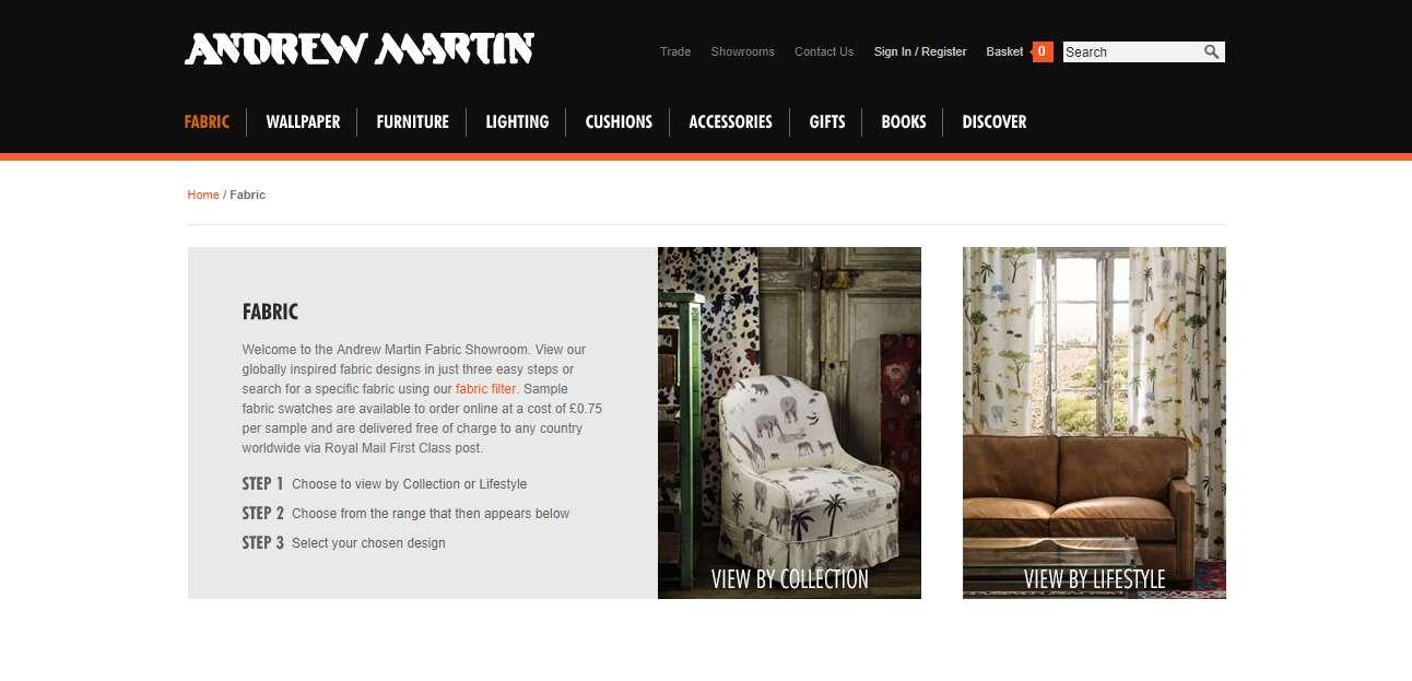 Homepage Dekostoffe kaufen von Andrew Martin