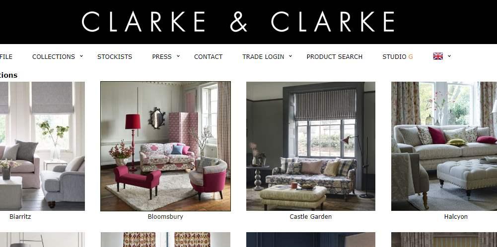 Homepage Dekostoffe kaufen von Clarke & Clarke
