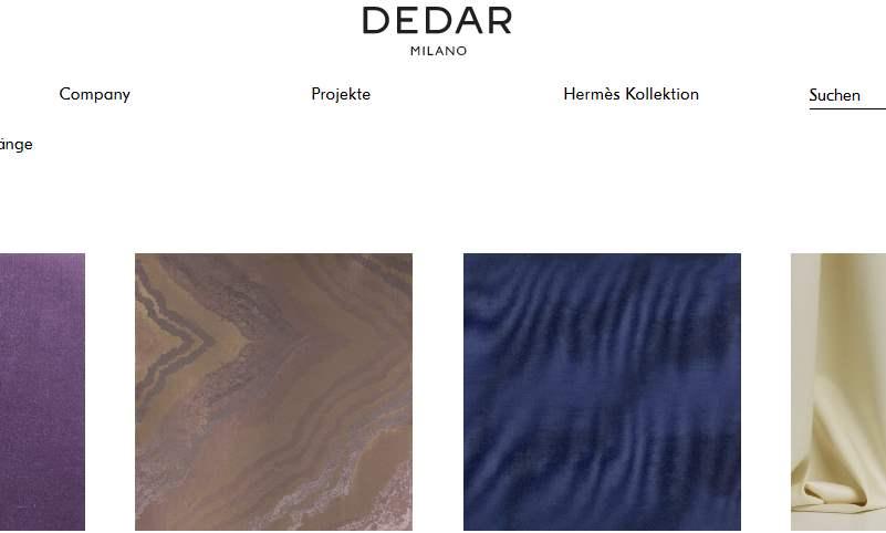 Homepage Dekostoffe kaufen von Dedar