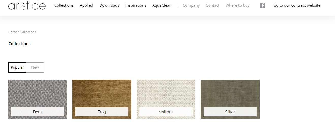 Homepage Dekostoffe kaufen von Aristide