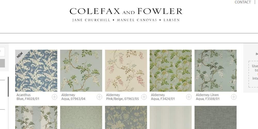 Homepage Dekostoffe kaufen von Colefax and Fowler