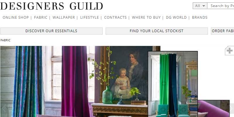 Homepage Dekostoffe kaufen von Designers Guild
