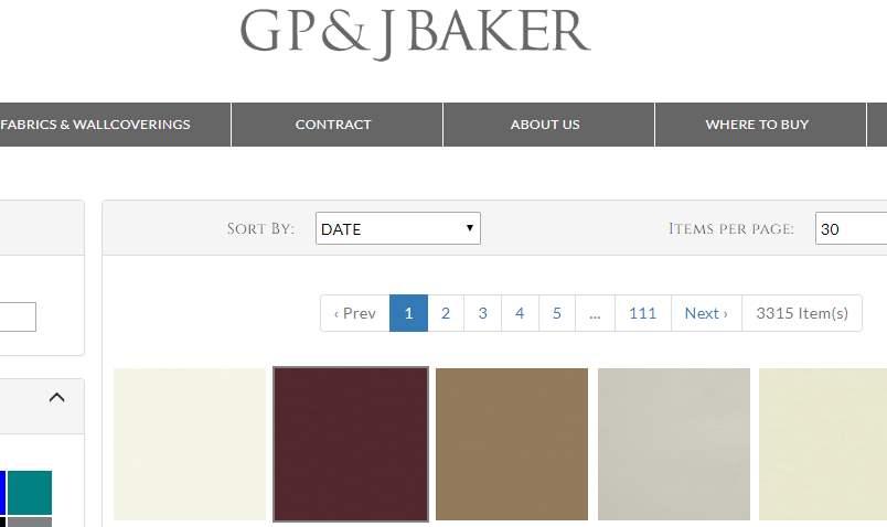 Homepage Dekostoffe kaufen von GP&Baker