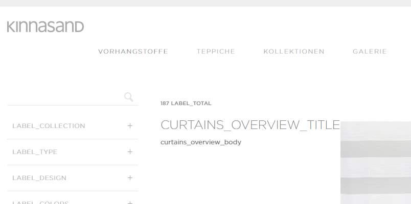 Homepage Dekostoffe kaufen von Kinnasand