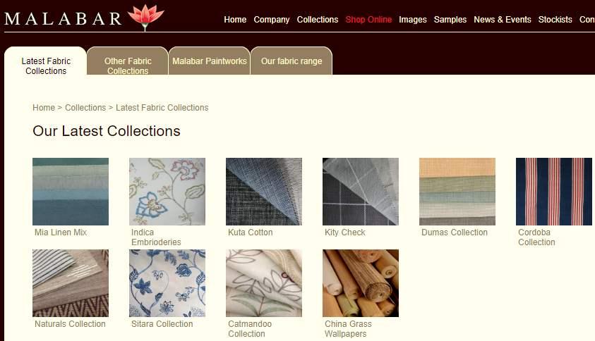 Homepage Dekostoffe kaufen von Malabar