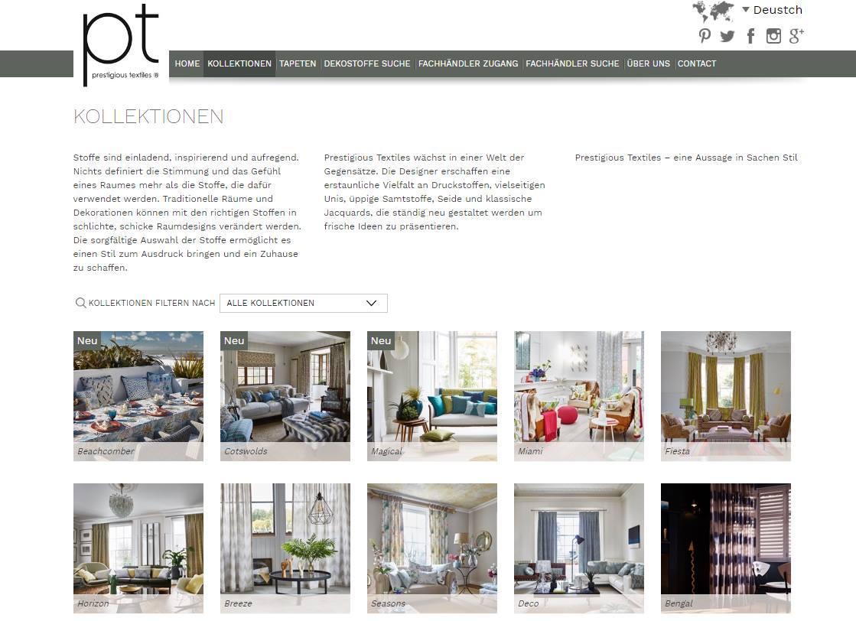 Homepage Dekostoffe kaufen von Prestigious Textiles