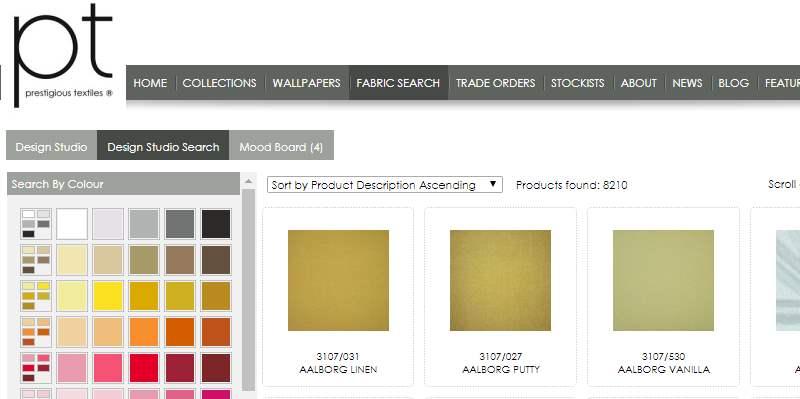 Homepage Dekostoffe kaufen von Prestigous Textiles