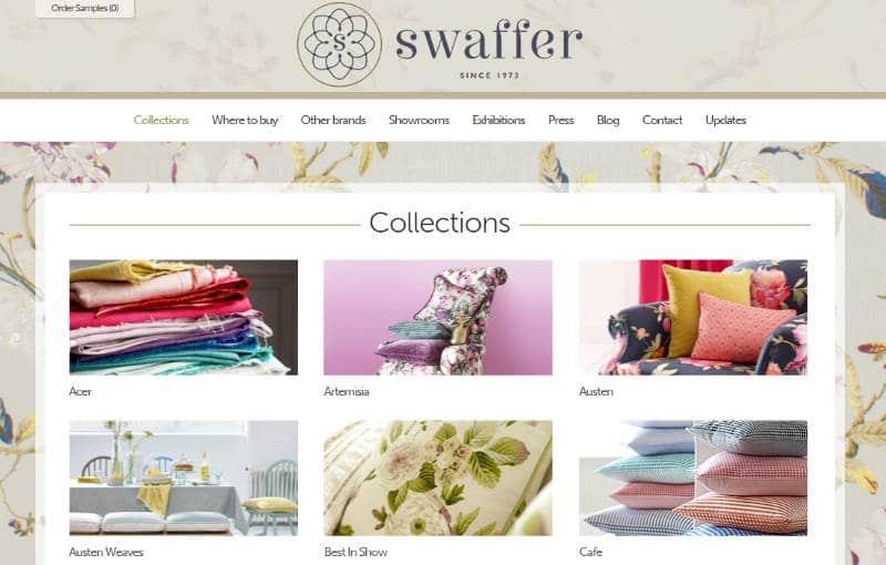 Homepage Dekostoffe kaufen von Swaffer