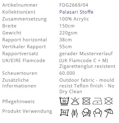 Outdoorstoffe von Polo Ralph Lauren Seraya Outdoor Produkt Info