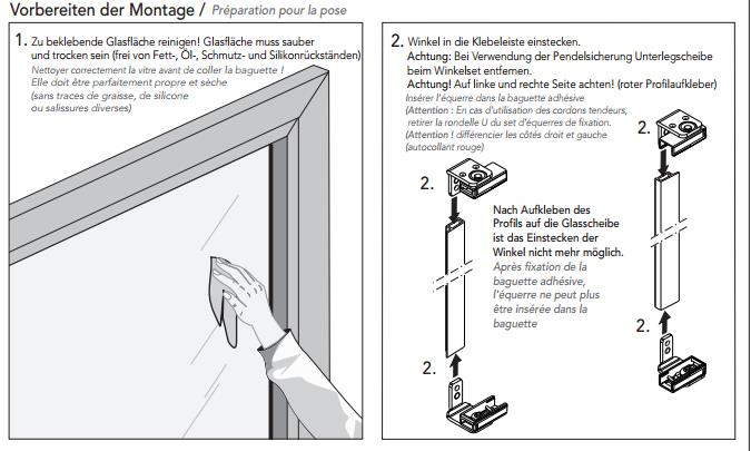 Plissee Vorhang-Klebeset Anleitung