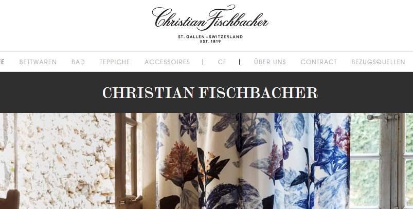 Homepage Dekostoffe von Christian Fischbacher