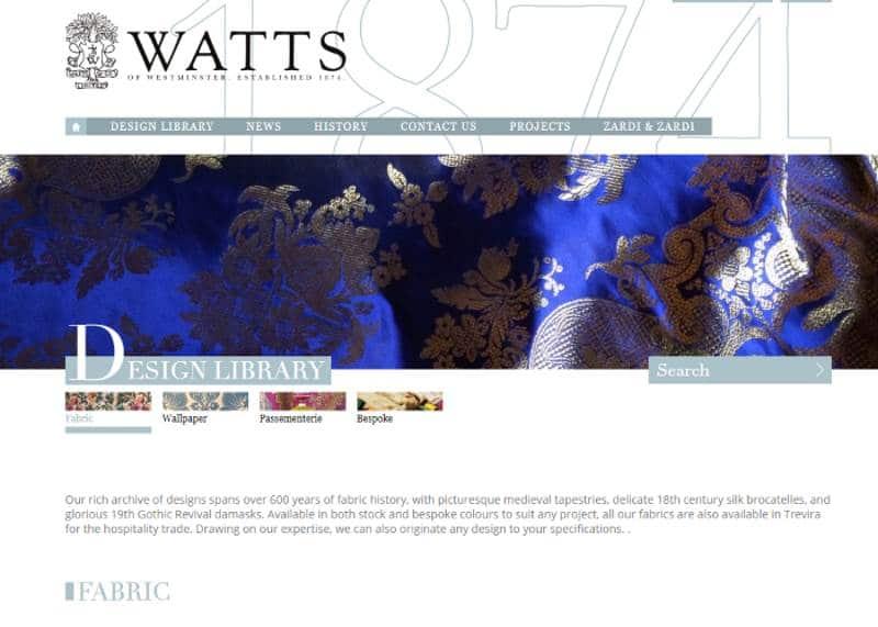 Homepage Dekostoffe von Watts
