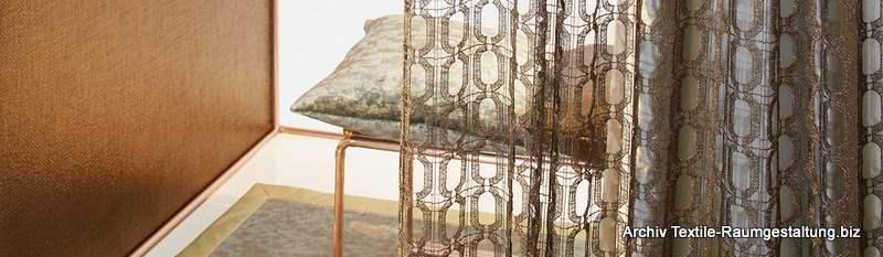 Textile Raumgestaltung mit modernen Gardinen - Scene