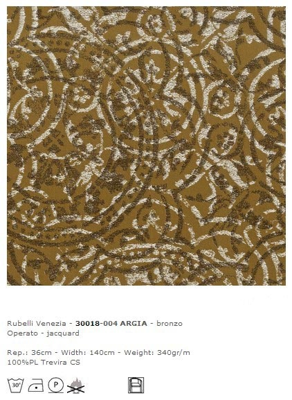 Rubelli Venezia Dekostoff Argia-Bronzo