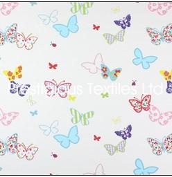 Kindergardinen MädchenStoff von Prestigious Schmetterlinge