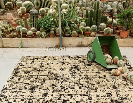 Domiecki Teppich mit Kaktusfasern