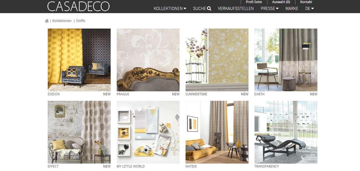 Homepage Dekostoffe kaufen von Casadeco