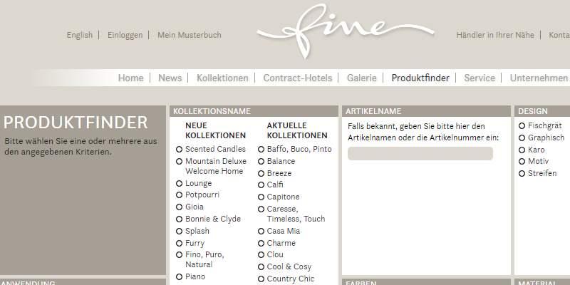 Homepage Dekostoffe kaufen von Fine