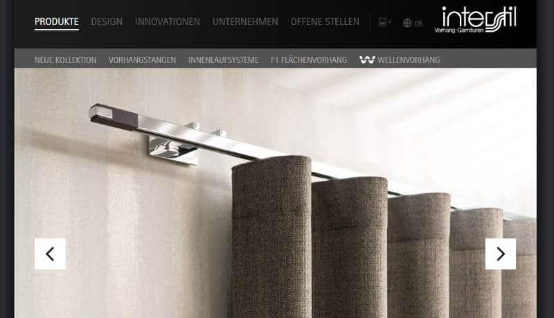 Homepage Vorhangstangen kaufen von Interstil