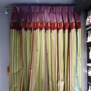 Vorhangband formt den Vorhang scene 2