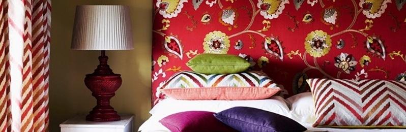 Vorhangstoff mit Blumenmuster von Jane Churchill