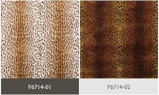 Moebelstoff Samt mit Tigermuster von Osborne & Little Farben