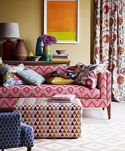 vorhangstoff mit blumenmuster von jane churchill. Black Bedroom Furniture Sets. Home Design Ideas