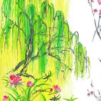 Vorhangstoffe-mit-Blumen-Willow-Flower-Designers-Guild