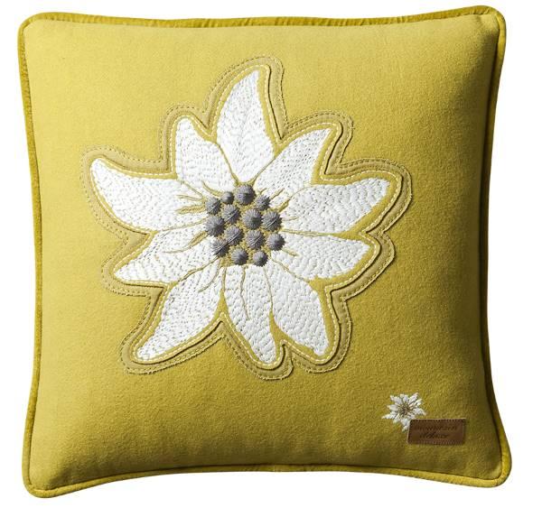 Edelweiss-Kissen-Alpenstern-gelb
